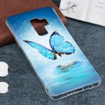 For Samsung Galaxy S9+ Noctilucent Butterfly Pattern TPU Soft Back Case Protective Cover, Small Quantity Recommended Before Sams