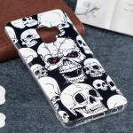 For Samsung Galaxy S9 Noctilucent Red Eye Skull Pattern TPU Soft Back Case Protective Cover, Small Quantity Recommended Before S