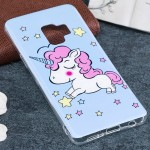 For Samsung Galaxy S9 Noctilucent Blue Horse Pattern TPU Soft Back Case Protective Cover, Small Quantity Recommended Before Sams
