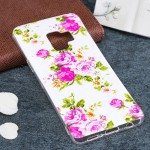 For Samsung Galaxy S9 Noctilucent Rose Flower Pattern TPU Soft Back Case Protective Cover, Small Quantity Recommended Before Sam