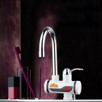 3s Fast Heat Electrothermal Rotatable Faucet Water Tap with Digital Display, 220V, Size: S