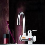 3s Fast Heat Electrothermal Rotatable Faucet Water Tap with Indicator Light, 220V, Size: L