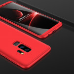 GKK for Samaung Galaxy S9+ Three-paragraph 360 Degree Full Coverage PC Protective Case Back Cover(Red)