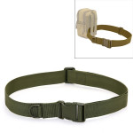 Outdoor Riding Hiking Sports Military Style Multifunctional Waist Belt(Army Green)