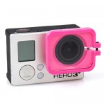 TMC Lens Anti-exposure Protective Hood for GoPro Hero 4 / 3+(Magenta)