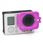 TMC Lens Anti-exposure Protective Hood for GoPro Hero 4 / 3+(Purple)