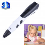 Gen 6th ABS / PLA Filament Kids DIY Drawing 3D Printing Pen with LCD Display(White+Black)