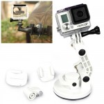 TMC Car Suction Cup Mount + Tripod Adapter + Handle Screw for GoPro Hero 4 / 3+ / 3 / 2 / 1(White)