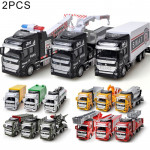 2 PCS Simulation Toy Car 1:48 Alloy Engineering Vehicle Children Toy Random Delivery