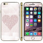 Heart Shape Pattern Mobile Phone Decal Stickers for iPhone 6 & 6S