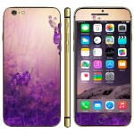 Purple Flower Pattern Mobile Phone Decal Stickers for iPhone 6 & 6S