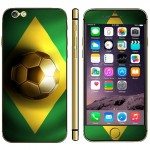 Brazil Flag Pattern Mobile Phone Decal Stickers for iPhone 6 Plus & 6S Plus