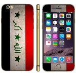 Iraqi Flag Pattern Mobile Phone Decal Stickers for iPhone 6 Plus & 6S Plus