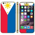 Philippine Flag Pattern Mobile Phone Decal Stickers for iPhone 6 Plus & 6S Plus