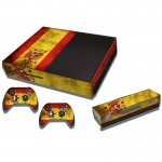 Spainish Flag Pattern Decal Stickers for Xbox One Game Console