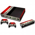 Iraqi Flag Pattern Decal Stickers for Xbox One Game Console