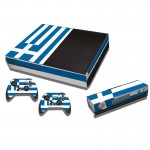Greek Flag Pattern Decal Stickers for Xbox One Game Console