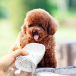 Outdoor Travel Portable Pet Drinking Water Cup Water Feeder, Capacity: 350ml (White)