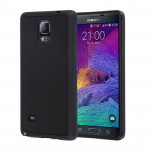 For Samsung Galaxy Note 4 / N910 Anti-Gravity Magical Nano-suction Technology Hybrid Sticky Selfie Protective Case(Black)