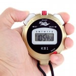 KISLO K81 Stopwatch Professional Chronograph Handheld Digital LCD Sports Counter Timer with Strap