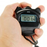PS50 Stopwatch Professional Chronograph Handheld Digital LCD Sports Counter Timer with Strap