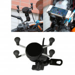 Universal 12V Motorcycle USB Phone Charger with Holder, Suitable for 3.5-6.5 inch Smartphones