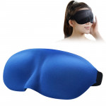 Home and Travel Sleeping Eye Mask Eyepatch with Adjustable Strap(Blue)