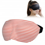 Home and Travel Sleeping Eye Mask Eyepatch with Adjustable Strap(Red)
