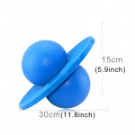 Bouncing Ball Explosion-proof Balance Outdoor Inflatable Exercise Jumping Balls Toys (Blue)