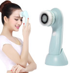 1.2W USB Charging Electronic Cleaning Face Beauty Instrument Pores Nose Blackhead Facial Cleansing Brush(Blue)