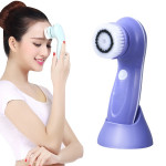 1.2W USB Charging Electronic Cleaning Face Beauty Instrument Pores Nose Blackhead Facial Cleansing Brush(Purple)