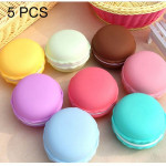 5 PCS Lovely Macaron Style Ornaments Box Portable Storage Box Random Color Delivery