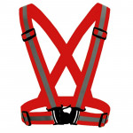 Night Riding Running Flexible Reflective Safety Vest(Red)