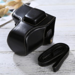 Full Body Camera PU Leather Case Bag with Strap for Olympus EPL7 / EPL8 (Black)