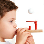 Classic Wooden Games Floating Blow Pipe & Balls Blowing Toy for Children