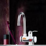 3s Fast Heat Electrothermal Rotatable Faucet Water Tap with Digital Display, 220V, Size: L