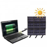 Portable 9x 2.5 W Solar Panel-Multi-Functional Battery chargers, it can Charge PC with DC Plug
