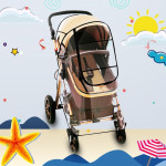 Adjustable Transparent Cover For Golf Carts, Baby Strollers And Wheelchairs To Provide Protection From Rain, Wind, and Mist, eve