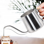 250ML Long Narrow Spout 304 Stainless Steel Hand Drip Coffee Pot with Hanging Ear