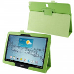 Litchi Texture Leather Case with Holder for Samsung Galaxy Note 10.1 / P600 (2014 Edition), Green(Green)