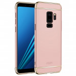 MOFI for Samaung Galaxy S9+ Detachable Three-piece Hard PC Protective Back Case (Rose Gold)