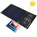 HAWEEL 14W Foldable Solar Panel Charger with Dual USB Ports