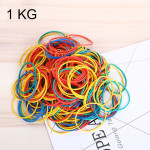 Assorted Color Sturdy Stretchable Elastic Rubber Bands School Office Supplies Stationery, 1KG Per Bag