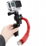 Special Stabilizer Bow Type Balancer Selfie Stick Monopod Mini Tripod for GoPro HERO4 /3+ /3(Red)