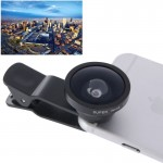 HE-22 Universal Super Wide 0.4X Lens with Clip, Suit for iPhone 6 & 6 Plus, Samsung, HTC, Cameras(Black)