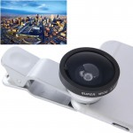 HE-22 Universal Super Wide 0.4X Lens with Clip, Suit for iPhone 6 & 6 Plus, Samsung, HTC, Cameras(Silver)