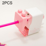 2 PCS Deli Manual Pencil Sharpener with Auto Suction Function