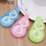 10 PCS Cartoon Correction Tape Roller 10m Long Office Stationery, Random Style Delivery