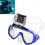 Water Sports Diving Equipment Diving Mask Swimming Glasses with Mount for GoPro Hero 4 / 3+ / 3 / 2 / 1(Blue)