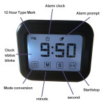 Kitchen Timer Digital Alarm Clock Large LCD Touch Screen Come with Night Light for Cooking Baking(Pink)
